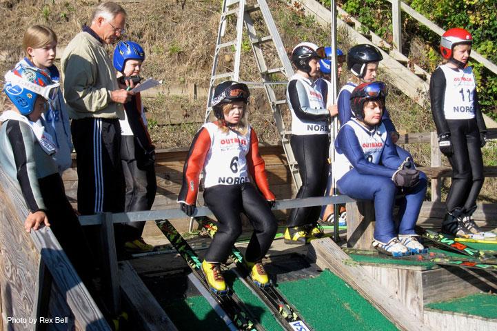 Norge Ski Club Junior Ski Jumpers at Training